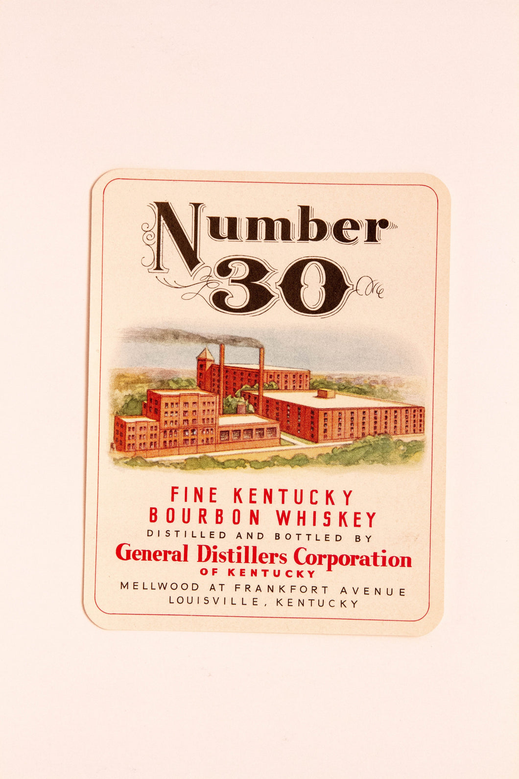 Set of Two NUMBER 30 Fine KENTUCKY Bourbon WHISKEY Labels, Alcohol, Vintage - TheBoxSF