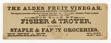 Load image into Gallery viewer, Victorian Alden Fruit Vinegar Trade Card || June Chicks Bookmark