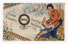 Load image into Gallery viewer, Victorian Sapanule, Quack Medicine Trade Card || Japanese Couple