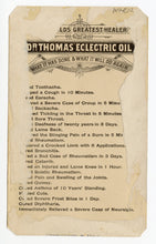 Load image into Gallery viewer, Victorian Dr. Thomas' Electric Oil, Quack Medicine Trade Card || Mary Anderson