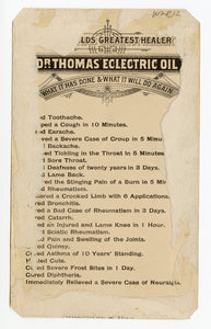 Victorian Dr. Thomas' Electric Oil, Quack Medicine Trade Card || Mary Anderson