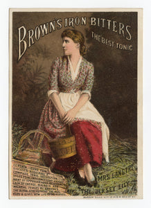 Victorian Brown's Iron Bitters, Quack Medicine Trade Card || Pharmacy