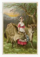 Load image into Gallery viewer, Victorian Dr. Jayne's Tonic Vermifuge, Quack Medicine Trade Card || Cows