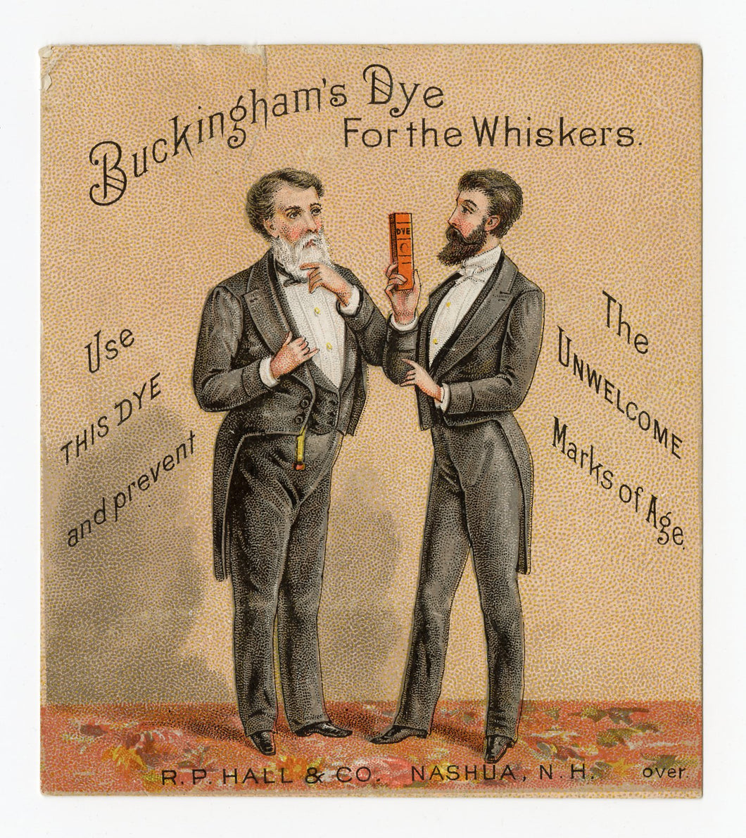 Victorian Buckingham's Dye for Whiskers Trade Card || Gentlemen