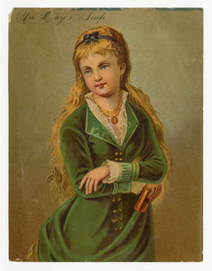 Victorian Day's Soap, Cleaning Trade Card || Beautiful Woman