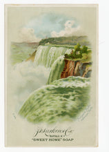 Load image into Gallery viewer, Victorian Sweet Home Soap Trade Card || Niagara Falls