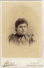 Load image into Gallery viewer, Victorian CABINET CARD, Waterbury, Connecticut, S.B. Hill Photography || Woman's Portrait