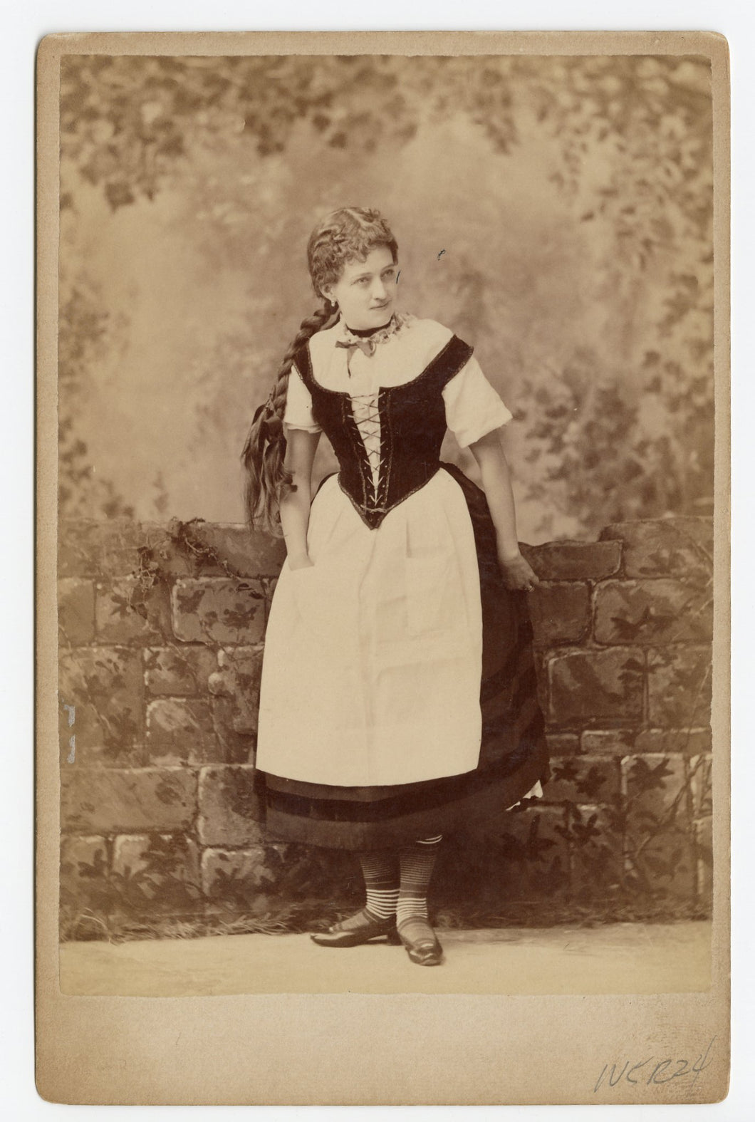 Victorian CABINET CARD, Chicago, Illinois, Joshua Smith Studio || Woman with a Braid