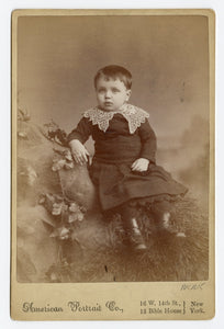 Victorian CABINET CARD, New York, New York, American Portrait Co. || Young Boy