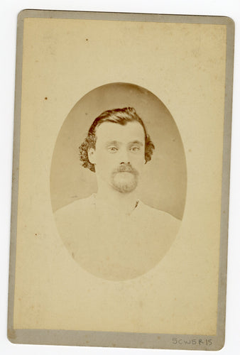 Victorian CABINET CARD, San Francisco, California, Vaughan's Photography Gallery || Man's Portrait