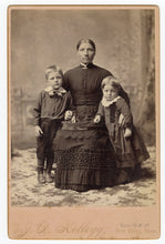Load image into Gallery viewer, Victorian CABINET CARD, Red Wing, Minnesota|| Woman with Two Boys