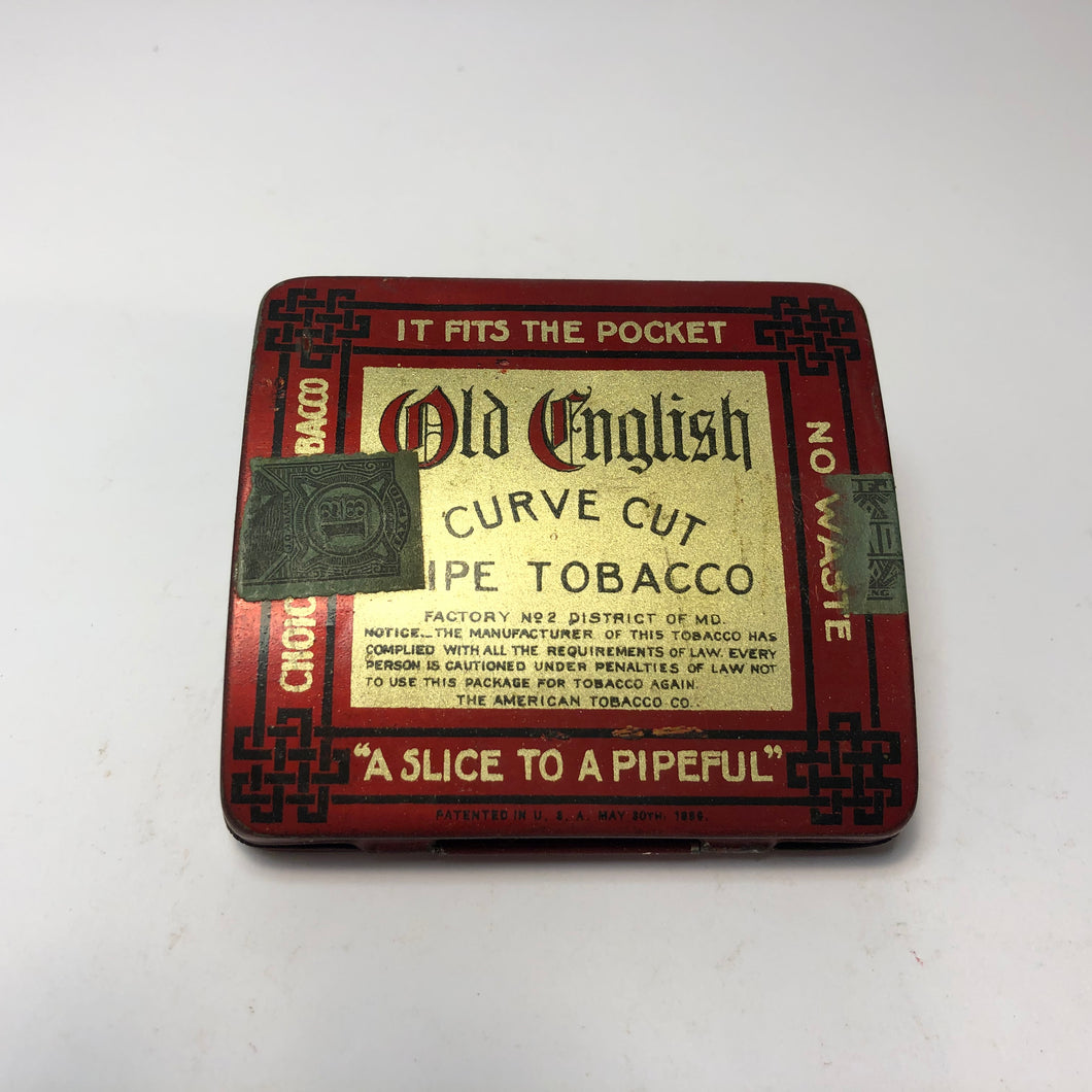 OLD ENGLISH Pipe Tobacco Tin, Curve Cut,