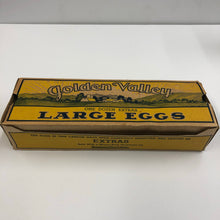 Load image into Gallery viewer, Antique Art Deco Era Golden Valley Cardboard Eggs Box, Vintage Kitchen