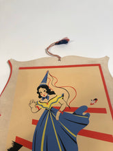 Load image into Gallery viewer, Charming Vintage CINDERELLA Die-Cut Poster with Hanger Cord