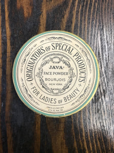 Beautiful Vintage Java Brand Face Powder Container with Original Powder Inside - TheBoxSF