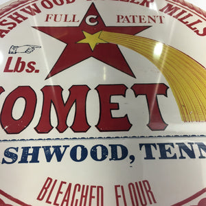 Old Vintage, COMET Bleached FLOUR Barrel Label, Ashwood Roller Mills, Walker & Jones - TheBoxSF