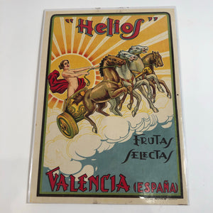HELIOS VALENCIA SPAIN ADVERTISING LABEL