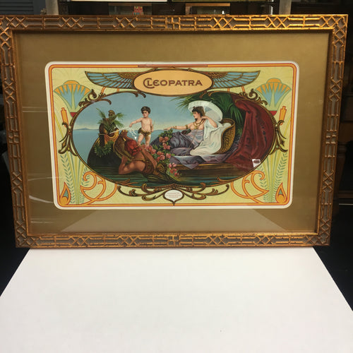"Old Framed CLEOPATRA Sign Lithograph, ""La Union"", Vintage"