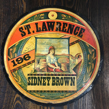 Load image into Gallery viewer, Old St. Lawrence SIDNEY BROWN Flour Label/Sign, Vintage - TheBoxSF
