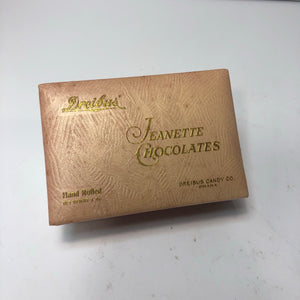 Jeanette Chocolates box produced by Dreibus Candy Co.