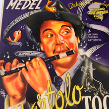 Load image into Gallery viewer, Old Mexican Movie Poster, Bartolo La Toca Flauta, Linen Mounted