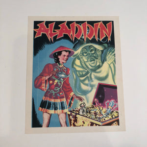 ALADDIN Production SMALL POSTER/ LABEL/ ADVERTISEMENT