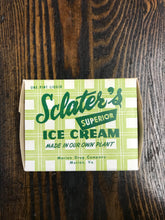 Load image into Gallery viewer, Vintage Sclater's Superior Ice Cream Packaging - TheBoxSF