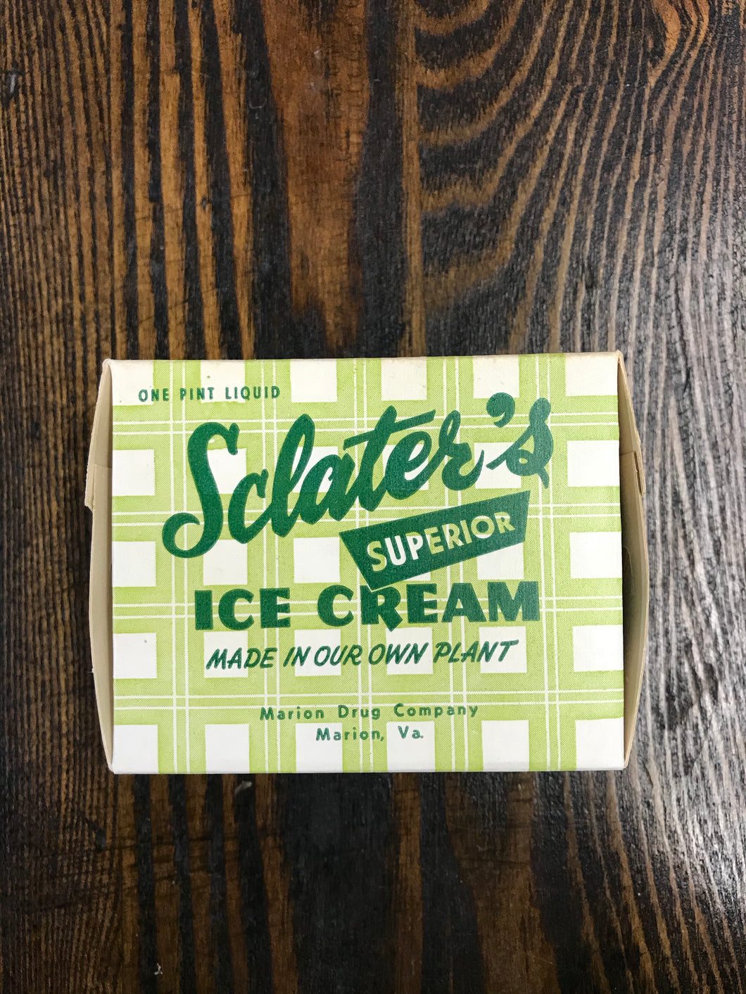 Vintage Sclater's Superior Ice Cream Packaging - TheBoxSF