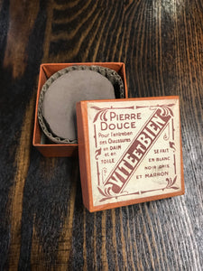 Vintage French Bathroom Cleaning Soap Packaging with Bar of Soap Inside - TheBoxSF