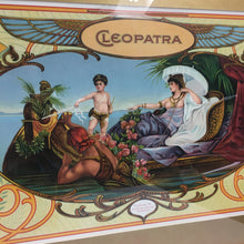 "Load image into Gallery viewer, Old Framed CLEOPATRA Sign Lithograph, ""La Union"", Vintage"