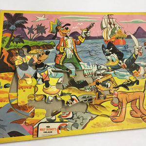 Old Walt DISNEY Puzzle, MICKEY MOUSE Clubhouse, No1