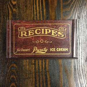 Old Purity RECIPES for DESSERT Tin, ice cream - TheBoxSF