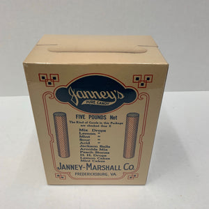 Old Janney's 5 Pounds Candy Box, Packaging, Janney-Marshall Co.