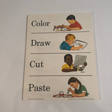 Load image into Gallery viewer, 1960s Learning/ teaching sheet--educational.