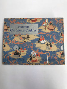 Art Deco Christmas cookie box beautifully illustrated!