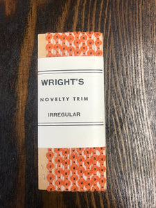 Vintage Wright's Novelty Orange Sewing Trim - TheBoxSF