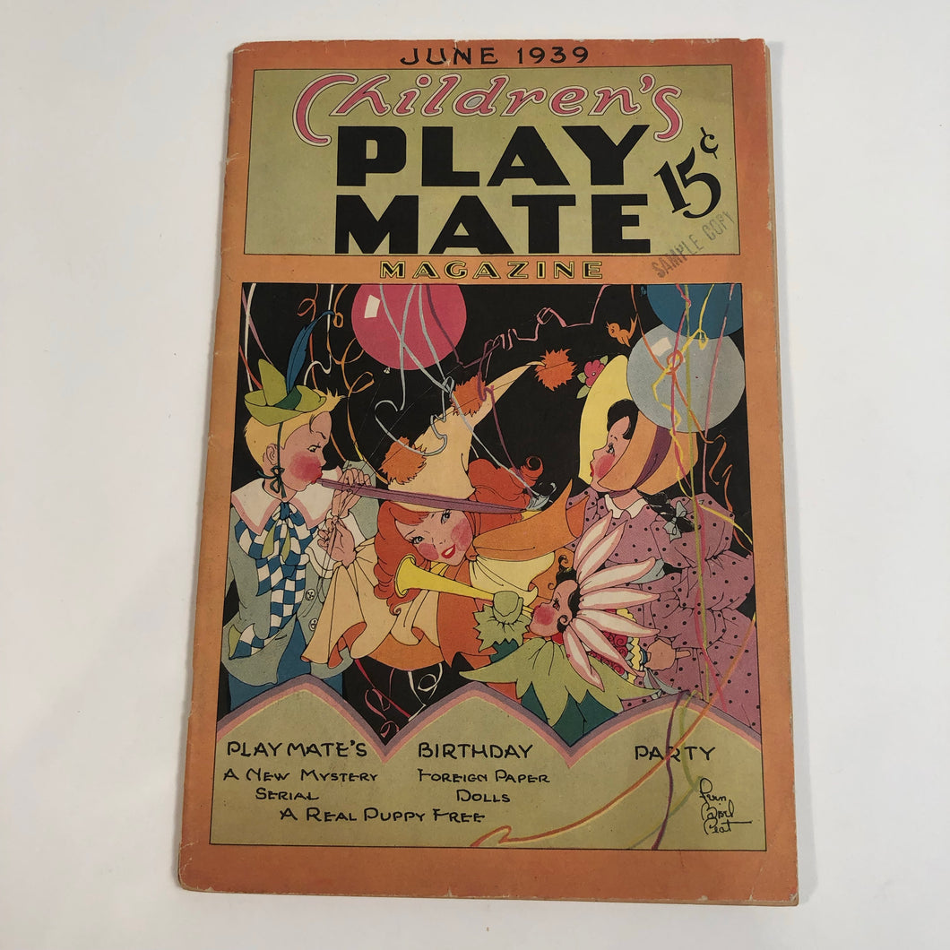 Children's Play Mate Magazine June 1939