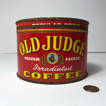 Load image into Gallery viewer, Great Vintage Old Judge Coffee Tin