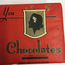 Load image into Gallery viewer, Old Chase's Candy CHOCOLATE Box, From Me to You