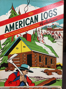 Old Vintage,  AMERICAN LOGS GAME, Toys & Games - TheBoxSF
