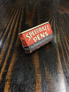 Vintage Speedball Pen Caps Packaging - TheBoxSF