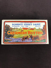 Load image into Gallery viewer, Vintage Roberts Jersey Dairy Creamery Butter Cardboard Packaging - TheBoxSF