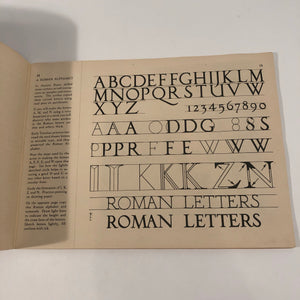 Roman Lettering in Industrial Applied Art Book