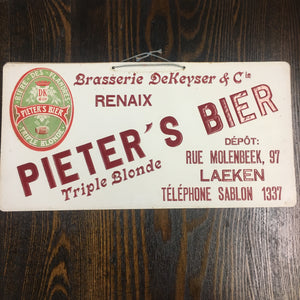 Old Pieters's Bier Triple Blonde SIGN, Beer, Flandres - TheBoxSF