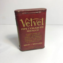 Load image into Gallery viewer, Vintage Great Velvet Tobacco Tin