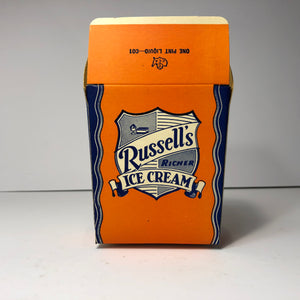 Russell's Ice Cream Container