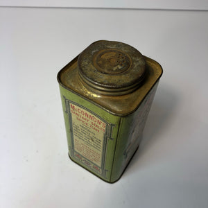 McConnon's Antique Cinnamon Tin Cannister - Looking Down