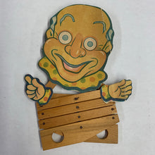 Load image into Gallery viewer, Old Wood Clown Toy
