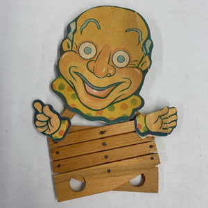 Old Wood Clown Toy