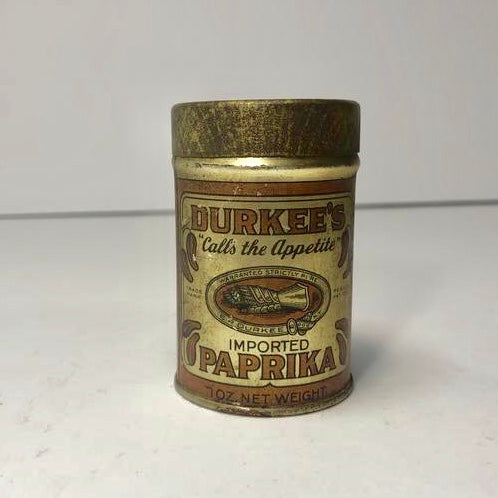 Durkee's Imported Paprika Tin Can